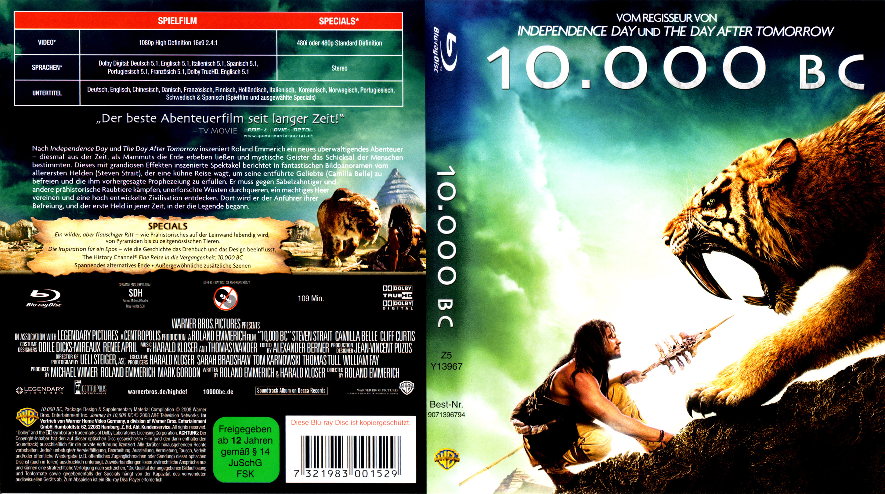 German Covers - Blu-ray Covers BD Covers - 10000 BC, 12