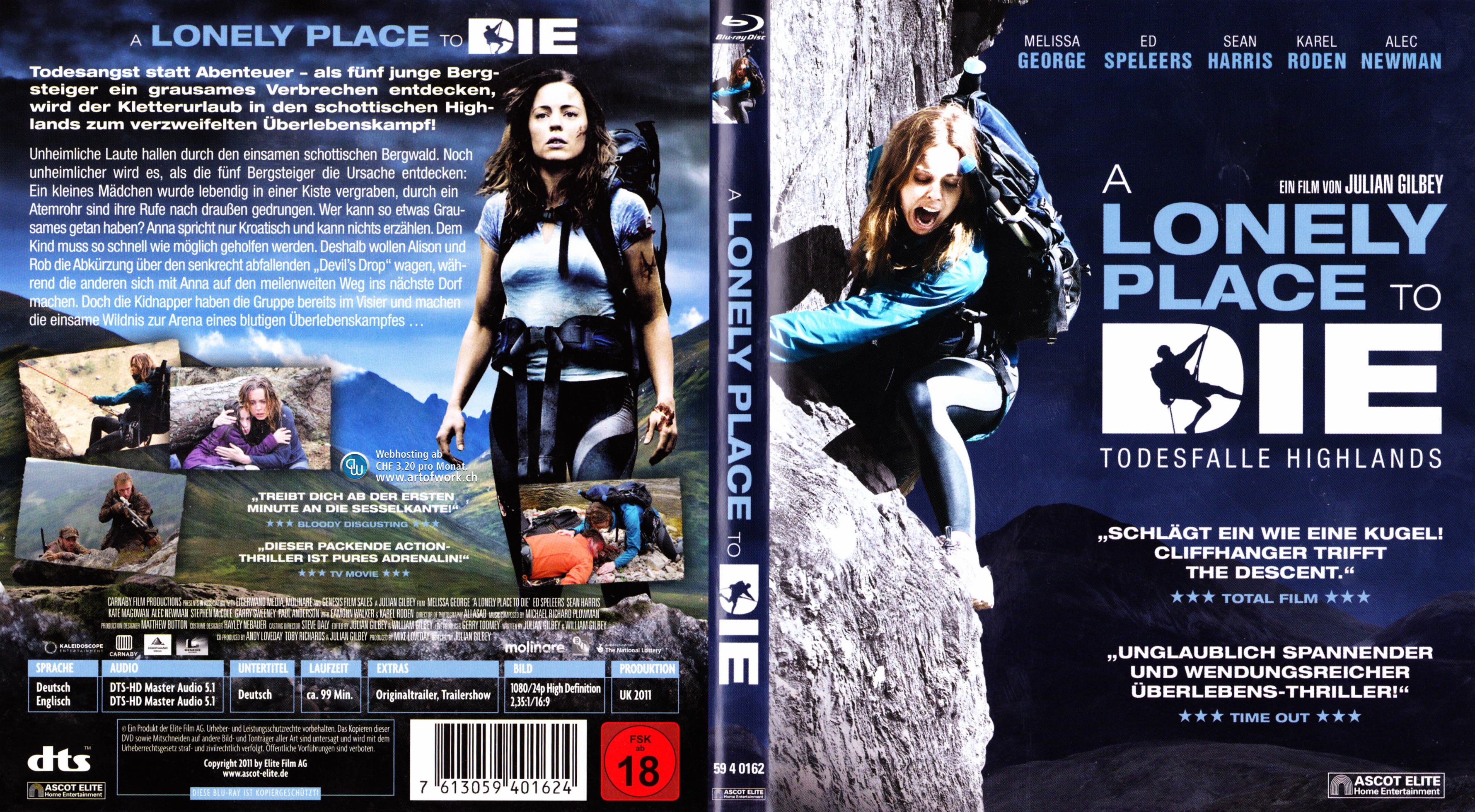 Lonely Place to Die Cover deutsch Blu-ray