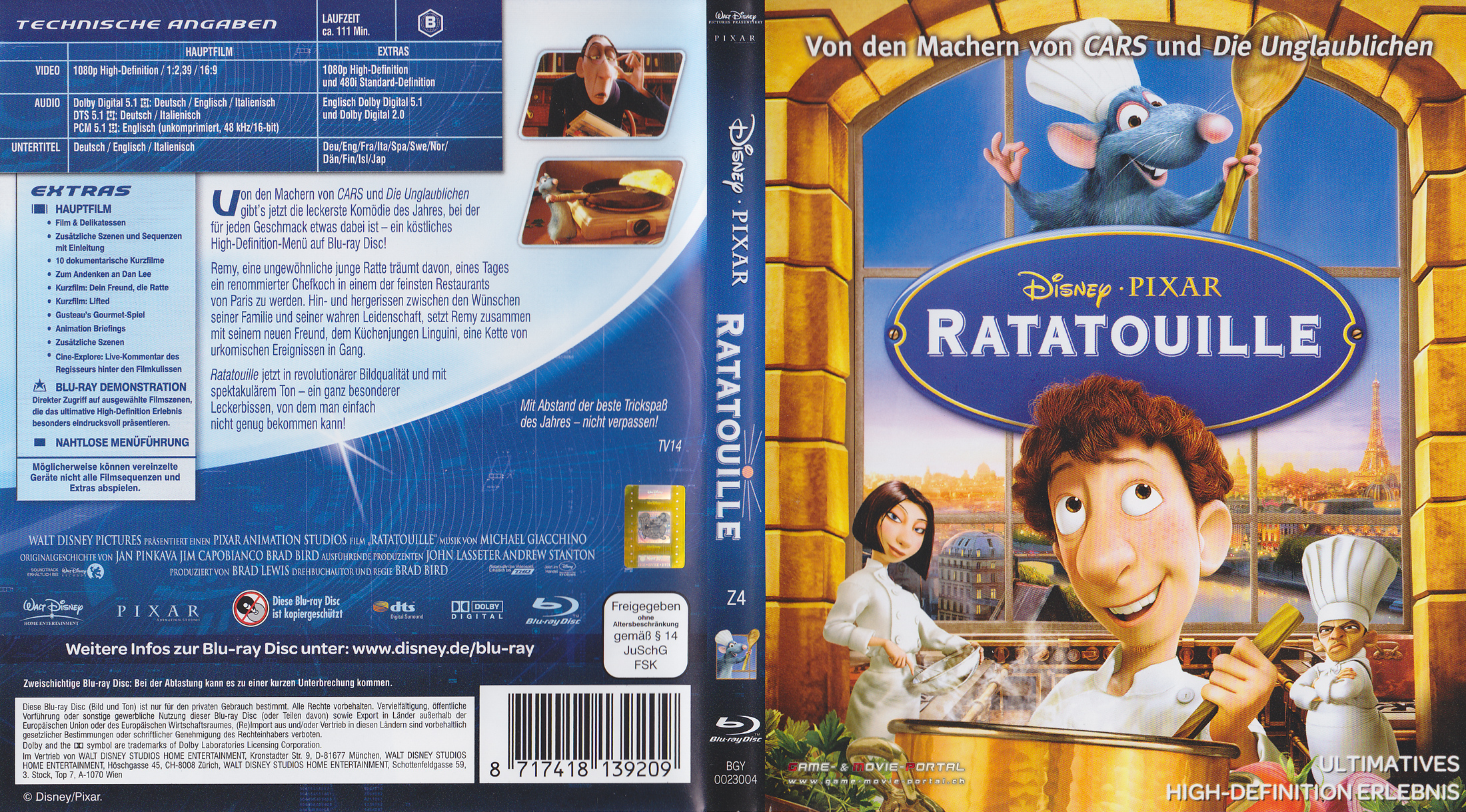 Ratatouille dvd cover download