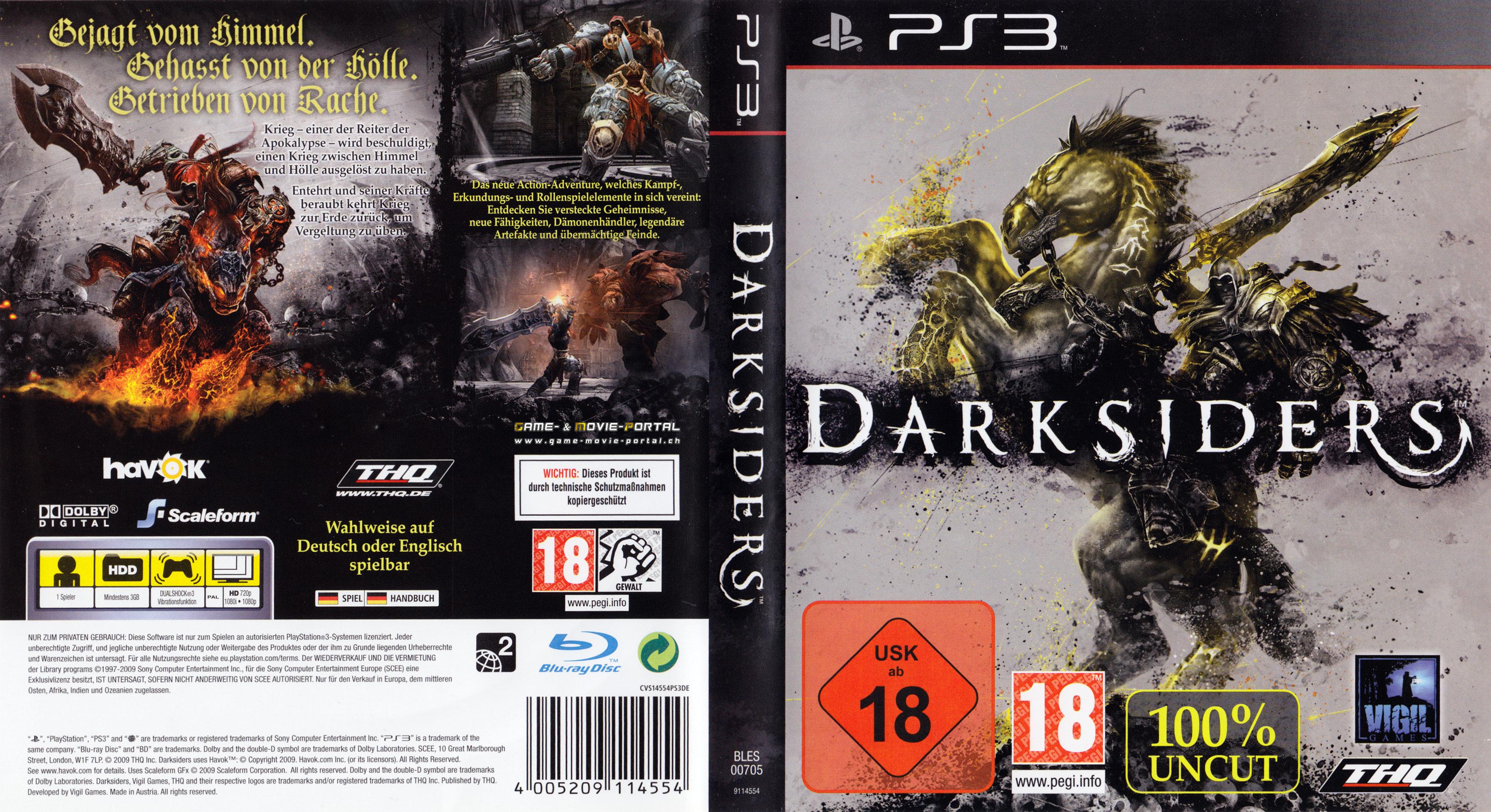 Playstation 3 Covers - Dantes Inferno, Dark Souls, Darksiders, Dead