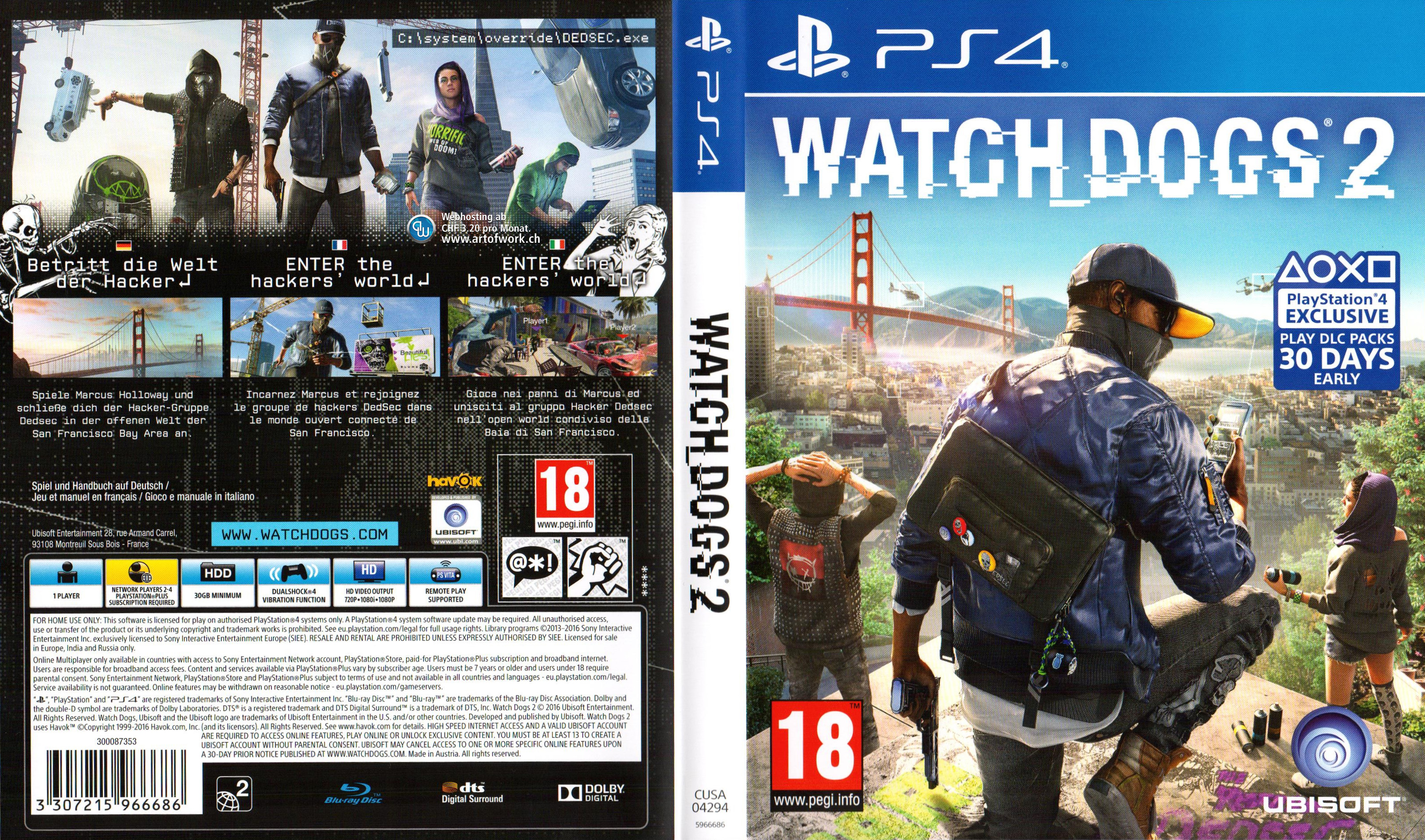 Watch Dogs Playstation